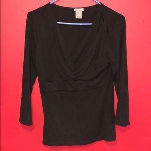Ann Taylor Women's Blouse Black Size Small